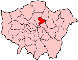Image shows a map of London with Hackney highlighted.
