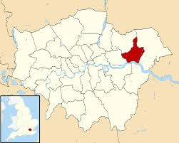 Image shows map of London with Barking and Dagenham highlighted