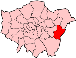 Image shows map of London with Bexley highlighted.