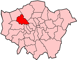 Image shows map of London with Brent highlighted.