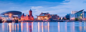 Image shows cardiff bay