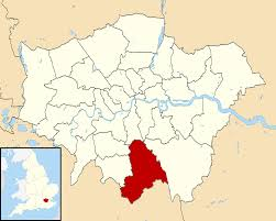 Image shows map of London with Croyden highlighted