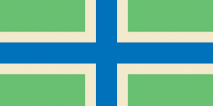 Image shows the flag of Gloucestershire.