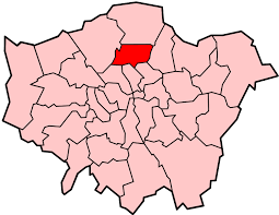 Image shows a map of London with Haringey highlighted