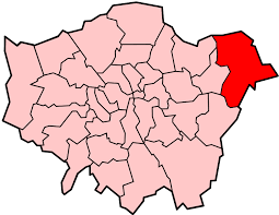 Image shows a map of London with Havering highlighted