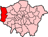 Image shows a map of London with Hillingdon highlighted.
