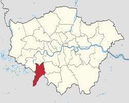 Image shows a map of London with Kingston-Upon-Thames highlighted