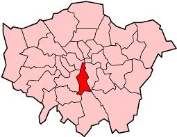 Image shows a map of London with Lambeth highlighted.