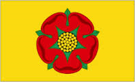 Image shows teh flag of Lancashire.