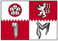 Image shows flag od Leicestershire